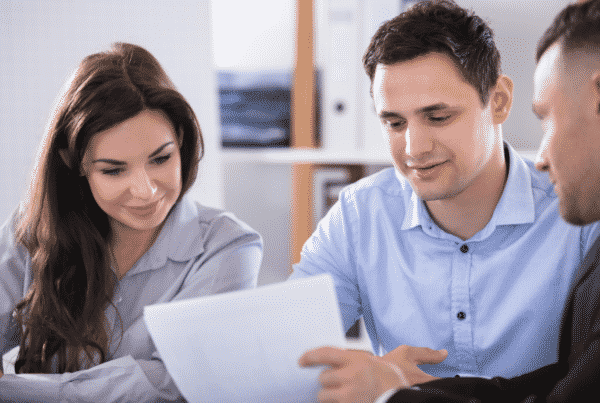 Young couple getting tax advices from an accountant